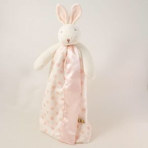 BUNNIES BY THE BAY Dotted Pink Bunny Buddy Blanket